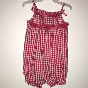 BABY GAP Red Checkered Baby Romper